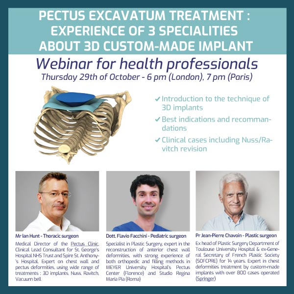 Webinar : Experience of 3 specialities for 3D implants by 3 surgeons